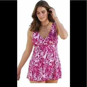 NWT Swimsuits for all Tropical Swimdress 34 $99